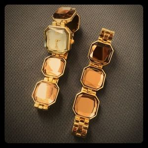 NEW Watch & Matching Bracelet Shining and Pretty